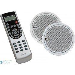 Estéreo 2.5'' (altavoces blancos, mando IR color acero)