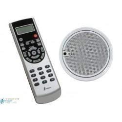 Mono 2.5'' (altavoz blanco, mando IR color acero)