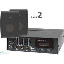 60m2 15w (amplificador 35w y 2 bafles negros)