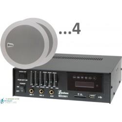 120m2 6w (amplificador 35w y 4 altavoces)