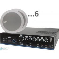 180m2 15w (amplificador 120w y 6 altavoces)