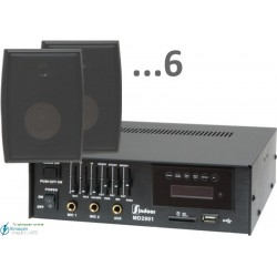 180m2 5w (amplificador 35w y 6 bafles negros)