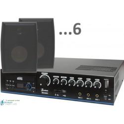 180m2 15w (amplificador 120w y 6 bafles negros)