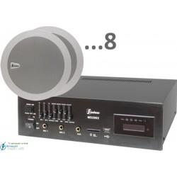 240m2 6w (amplificador 55w y 8 altavoces)