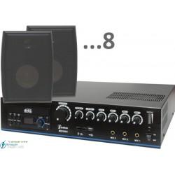 240m2 15w (amplificador 120w y 8 bafles negros)