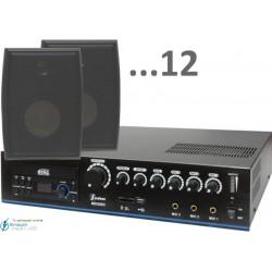360m2 5w (amplificador 120w y 12 bafles negros)