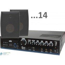 420m2 5w (amplificador 120w y 14 bafles negros)