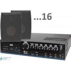 480m2 5w (amplificador 120w y 16 bafles negros)