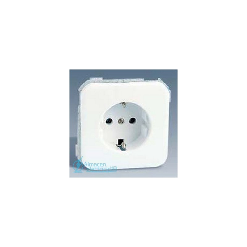 BASE ENCHUFE SCHUKO CON SEGURIDAD SIMON SERIE 31 BLANCO