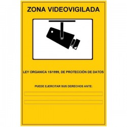 CARTEL DE ZONA VIDEOVIGILADA ESP013