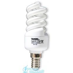 Lámpara Bajo Consumo Espiral Luz Día Tubo 7mm E27 9w Lumen 495 tono 6400k