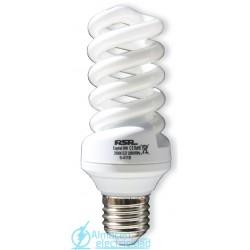 Lámpara Bajo Consumo Espiral Tubo 9mm E27 26w Lumen 1560 tono 6400k