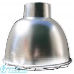 Campana Aluminio + Casquillo E40 + Rejilla