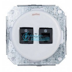 DOBLE RJ45 CAT.6 GARBY COLONIAL PORCELANA BLANCA