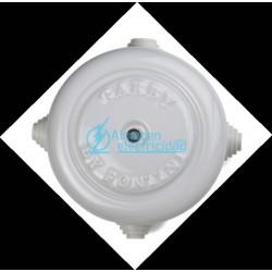 CAJA EMPALME ELECTRICO PORCELANA BLANCA DIAMETRO 118x53 mm FONTINI GARBY COMPLEMENTOS