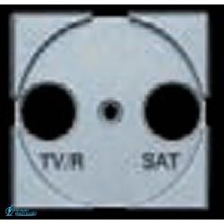 FRONTAL PARA BASE TV/R-SAT 2MODULOS ANCHO METALIZADO CLARO SERIE AXOLUTE