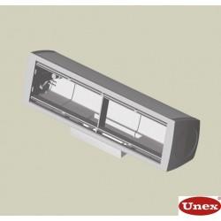 Caja mobiliario montaje fijo 4 mecanismos gris Unex en pvc
