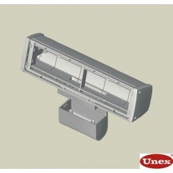 Caja mobiliario montaje móvil 4 mecanismos gris Unex en pvc