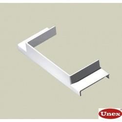 Derivación T blanco para canal porta cables Unex 40x60 en pvc