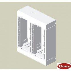 85 Caja 4 mecanismos blanco RAL9010  U24X