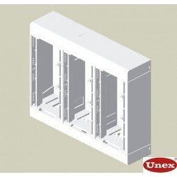 85 Caja 6 mecanismos blanco RAL9010  U24X