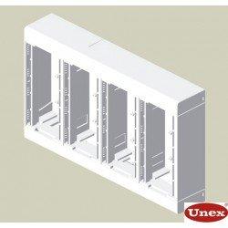 85 Caja 8 mecanismos blanco RAL9010  U24X