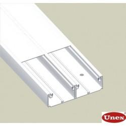 Canal 2 tapas blanco Unex 50x150 en pvc