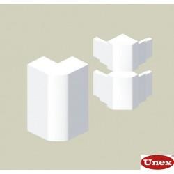 Ángulo exterior blanco para canal Unex 50x150 en pvc