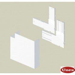 Ángulo plano blanco para canal Unex 50x150 en pvc