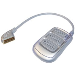 3-WAY SCART SPLITTER SILVER