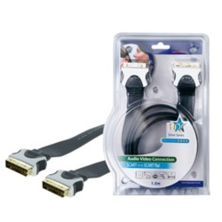 HIGH QUALITY FLAT SCART CABLE 1.50 M