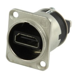 HDMI 1.3 FEEDTHROUGH ADAPTER WITH D-FORM HOUSING