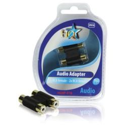 ACOPLADOR AUDIO 2X RCA HEMBRA - 2X RCA HEMBRA