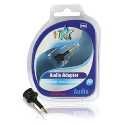 AUDIO ADAPTER TOSLINK FEMALE - OPT. 3.5MM MALE