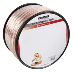 OFC LOUDSPEAKER CABLE 2X4.0 MM² ON REEL 25 M TRANSPARENT