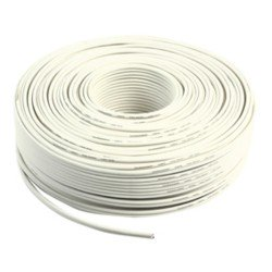 CABLE BLANCO DE ALTAVOZ 2X2,50MM²