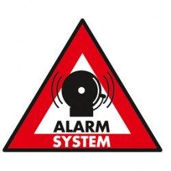 STICKER ALARM SYSTEM 123X148 MM
