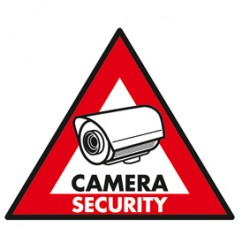 STICKER CAMERA SECURITY 123X148 MM