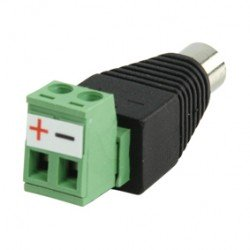 DC PLUG WITH TERMINAL CONNECTOR FEMALE