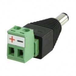 DC PLUG WITH TERMINAL CONNECTOR MALE