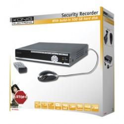 SECURITY DVR WITH 500 GB HARDDISK