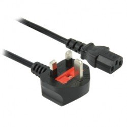POWER CABLE UK PLUG - IEC320 C13 1.80 M