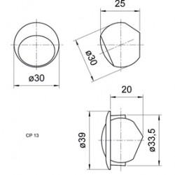 """ALTAVOZ COMPACTO 13MM (0.5"""")"""