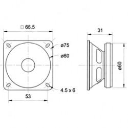 "ALTAVOZ FULL-RANGE DE 6.5 CM (2.5"") 8 OHM"