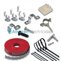 abrazadera metálica para tuberia electrica metrica 25