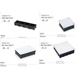 160x100 Caja de registro empotrada para empalmes electricos tapa con tornillos