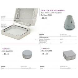 caja estanca conos con casquillo orientable 360š IP-54 (E-27)