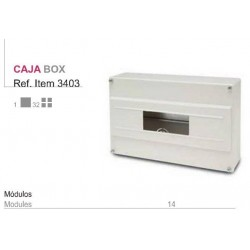 CUADRO SUPERFICIE PVC, caja ___de 6 a 14 elementos