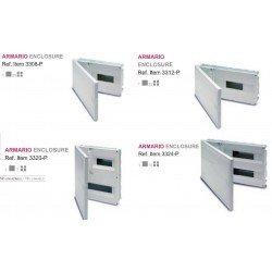 CUADRO EMPOTRAR PVC, caja de 1 a 4 elementos + aut. de 4 a 8