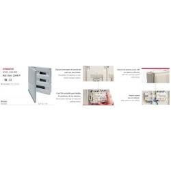 CUADRO EMPOTRAR PVC, caja de 1 a 4 elementos (ICP-40)+ aut. hasta 44 elementos